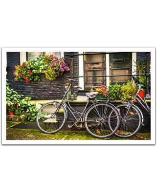 Puzzle din plastic Pintoo - Netherlands, Amsterdam Bicycles, 1.000 piese (H1572)
