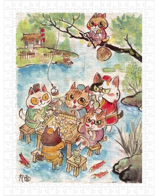 Puzzle din plastic Pintoo - Pao Mian: The Leisure Life of the Cats, 300 piese (H2112)
