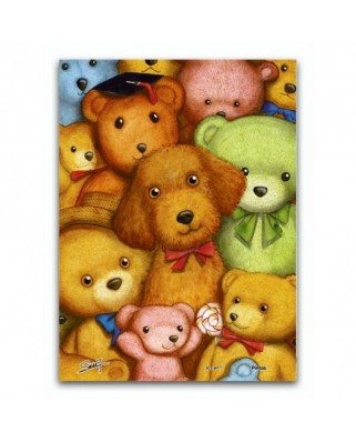 Puzzle din plastic Pintoo - Poodles and Teddy Bears, 150 piese (P1007)