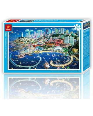 Puzzle din plastic Pintoo - San Francisco, 1.000 piese (H1661)