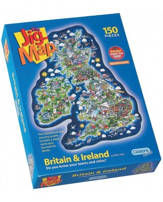 Puzzle Gibsons - Maxi - Great Britain and Ireland, 150 piese XXL (3118)