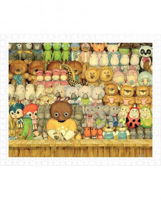Puzzle din plastic Pintoo - Smart - Cool Bears Toyshop, 500 piese (H1010)