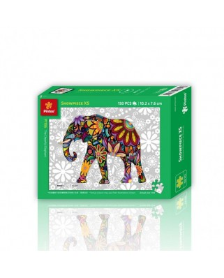 Puzzle din plastic Pintoo - The Cheerful Elephant, 150 piese (P1106)