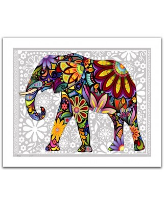 Puzzle din plastic Pintoo - The enthusiastic elephant, 500 piese (H1479)