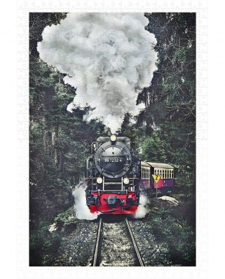 Puzzle din plastic Pintoo - The Steam Train, Switzerland, 600 piese (H2159)