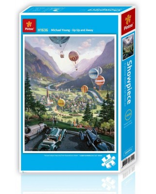 Puzzle din plastic Pintoo - Up Up and Away, 2.000 piese (H1636)
