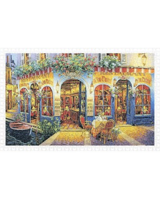 Puzzle din plastic Pintoo - Viktor Shvaiko: Au Bon Chabrot, 1.000 piese (H2029)