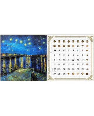 Puzzle din plastic Pintoo - Vincent Van Gogh: Calendar Showpiece - Starry Night Over the Rhone, 200 piese (H1778)