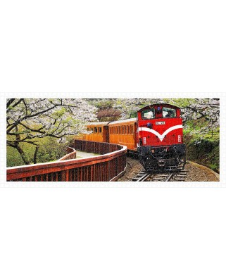Puzzle panoramic din plastic Pintoo - Forest Train in Alishan National Park, 1.000 piese (H1483)