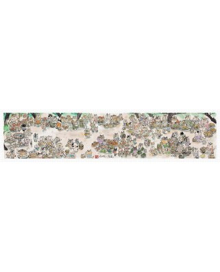 Puzzle panoramic din plastic Pintoo - Pao Mian: Market, 1800 piese (H2113)