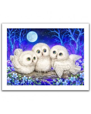 Puzzle din plastic Pintoo - Kayomi - Owl Triplets, 300 piese (H1953)