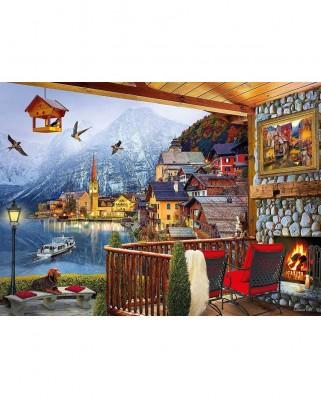 Puzzle Clementoni - Hallstatt, 1.000 piese (39481)