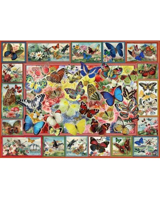Puzzle Anatolian - Barbara Behr: Lots of Butterflies, 1.000 piese (P1094)