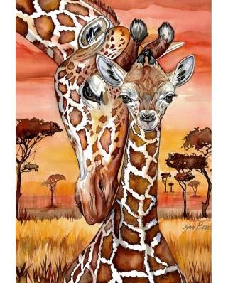 Puzzle Anatolian - Lynn Bean: Giraffe, 500 piese (P3615)