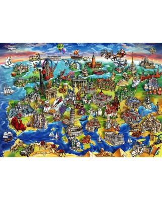 Puzzle Anatolian - Maria Rabinky: European World, 1500 piese (P4557)
