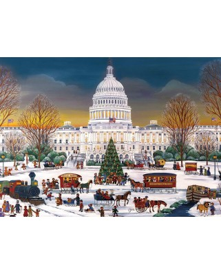 Puzzle Eurographics - Christmas at The Capitol, 300 piese XXL (8300-5403)