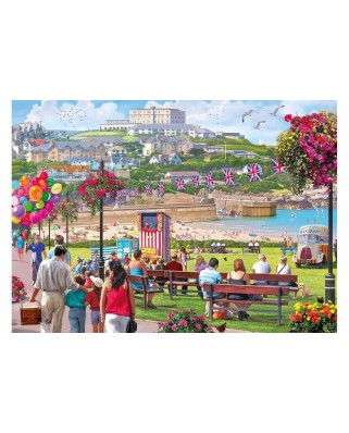 Puzzle Gibsons - Newquay Harbour, 1.000 piese (65105)