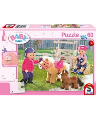Puzzle Schmidt - Baby Born - At The Ponyfarm, 60 piese (56299)