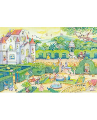 Puzzle Schmidt - Life With The Fairytale Princesses, 100 piese, contine autocolant (56329)
