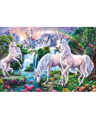 Puzzle Schmidt - Magnificent Unicorns, 60 piese, contine bentita (56331)