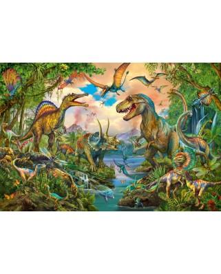 Puzzle Schmidt - Wild Dinosaurs, 150 piese, contine tatuaj (56332)