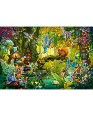 Puzzle Schmidt - Fairies In The Forest, 200 piese, contine bacheta magica (56333)