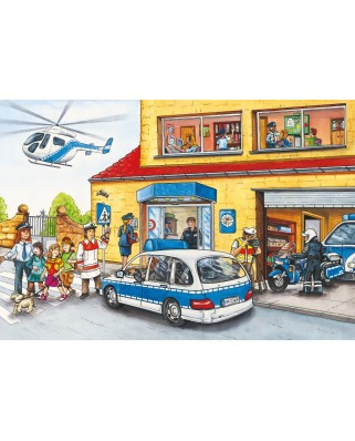 Puzzle Schmidt - Police Helicopter, 60 piese (56351)