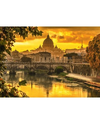 Puzzle Schmidt - Golden Light Over Rome, 1.000 piese (58393)