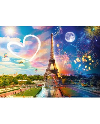 Puzzle Schmidt - Paris, Day And Night, 2.000 piese (58941)