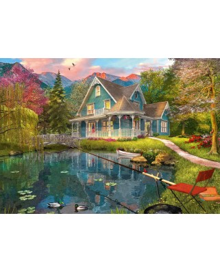 Puzzle Schmidt - Lakeside Retirement Home, 1.000 piese (59619)