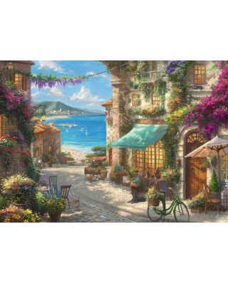 Puzzle Schmidt - Cafe On The Italien Riviera, 1.000 piese (59624)
