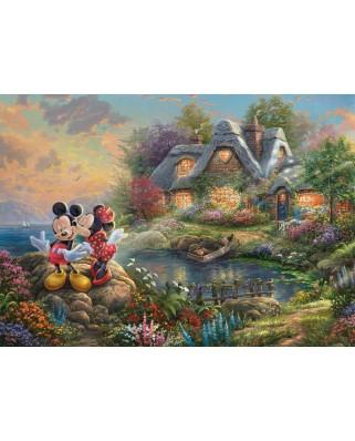 Puzzle Schmidt - Thomas Kinkade: Sweethearts Mickey&Minnie, 1.000 piese (59639)