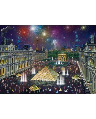 Puzzle Schmidt - Alexander Chen: Fireworks At The Louvre, 1000 piese (59648)