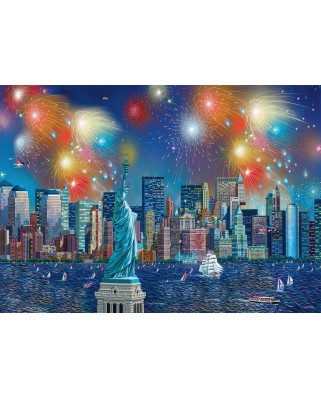 Puzzle Schmidt - Alexander Chen: Statue Of Liberty With Fireworks, 1.000 piese (59649)
