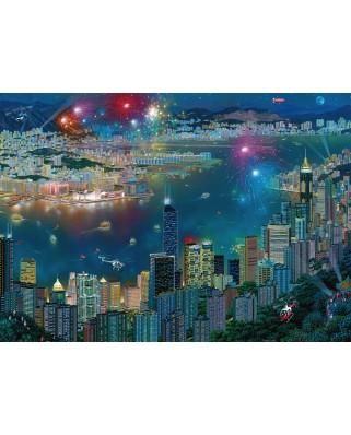 Puzzle Schmidt - Alexander Chen: Fireworks Over Hong Kong, 1.000 piese (59650)
