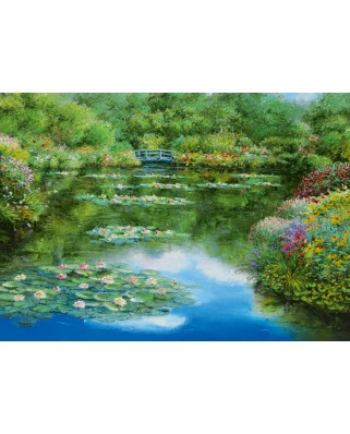 Puzzle Schmidt - Sam Park: Water Lily Pond, 1.000 piese (59657)