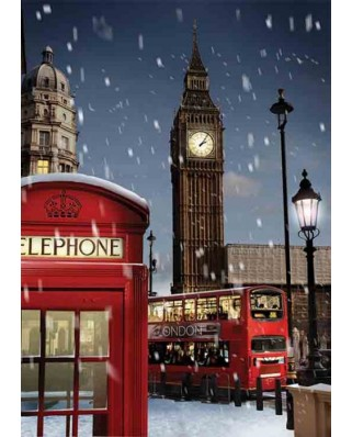 Puzzle Gold Puzzle - London at Xmas, 1.000 piese (Gold-Puzzle-61536)