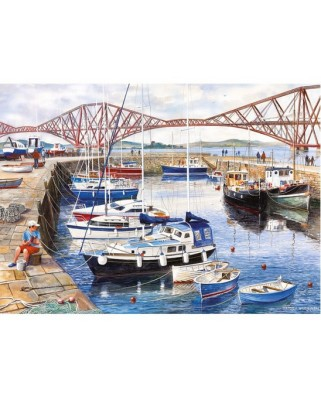 Puzzle Gibsons - Queensferry Fishing Harbour, 1.000 piese (11216)