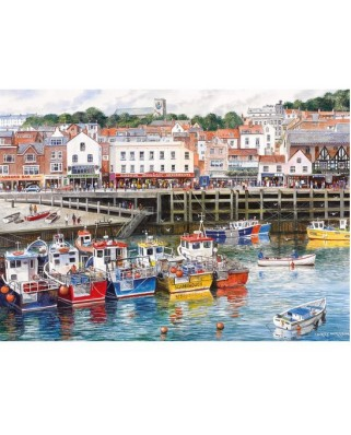 Puzzle Gibsons - Scarborough Fishing Harbour, 1.000 piese (11213)