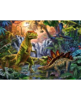Puzzle Ravensburger - The Dinosaur Oasis, 100 piese XXL (12888)