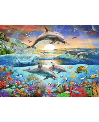 Puzzle Ravensburger - Dolphin Paradise, 300 piese XXL (12895)