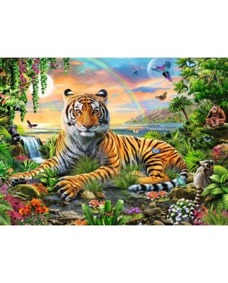 Puzzle Ravensburger - Jungle Tiger, 300 piese XXL (12896)