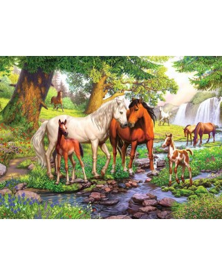 Puzzle Ravensburger - Horses by The Stream, 300 piese XXL (12904)