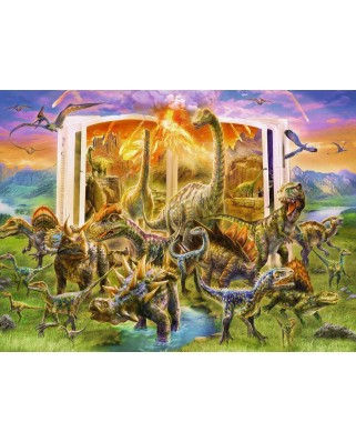 Puzzle Ravensburger - Dino Disctionary, 300 piese XXL (12905)