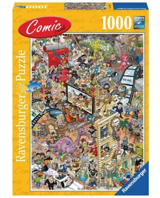 Puzzle Ravensburger - Comic Puzzle - Hollywood, 1.000 piese (14985)