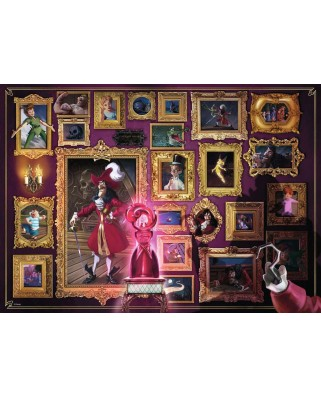 Puzzle Ravensburger - Disney Villainous, Captain Hook, 1000 piese (15022)