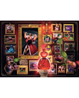 Puzzle Ravensburger - Disney Villainous, Queen of Hearts, 1.000 piese (15026)