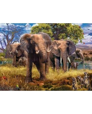 Puzzle Ravensburger - Elephant Family, 500 piese (15040)