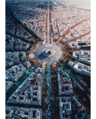 Puzzle Ravensburger - Paris seen from above, 1.000 piese (15990)