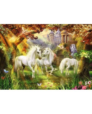 Puzzle Ravensburger - Unicorns in the Forest, 1000 piese (15992)